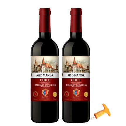 梅赛得 智利原酒进口红酒葡萄酒2瓶装一箱
