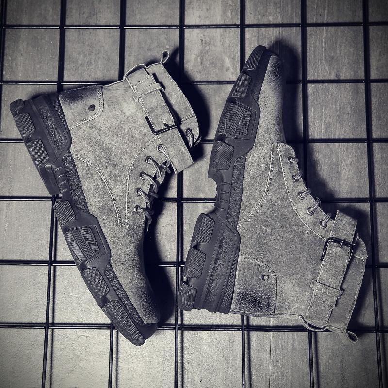 马丁靴男冬季皮靴高帮工装加绒潮流男士棉鞋雪地短靴英伦中帮靴子