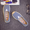 Canvas shoes female summer pedal flat old Beijing cloth shoes female leisure breathable fisherman Korean version of the lazy single shoes