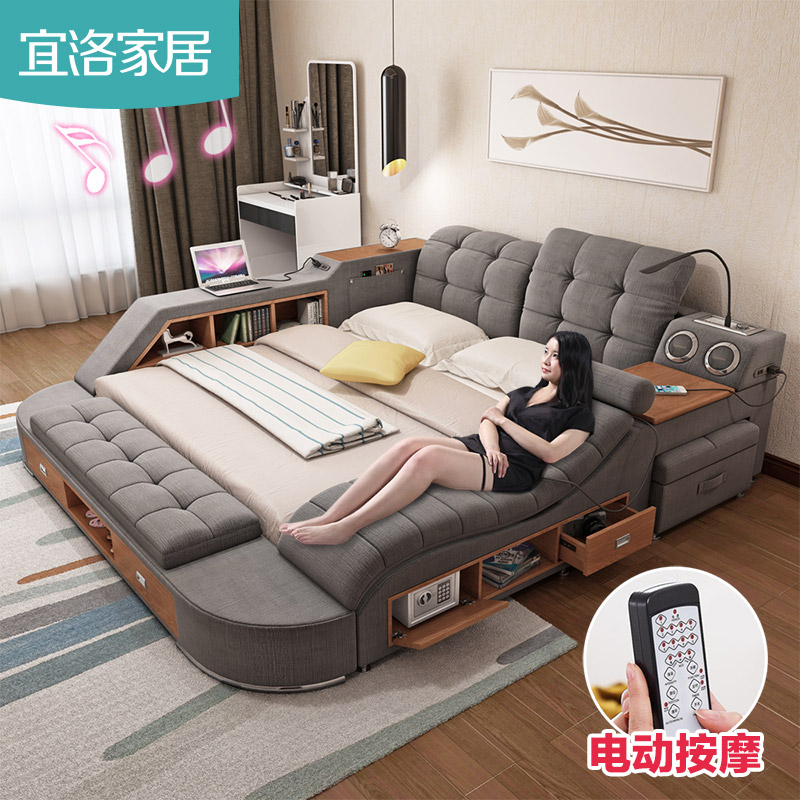 Usd Smart Massage Tatami Cloth Bed Linen Bed Master Bedroom 1 8 M Double Bed Modern