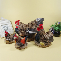Simulation Animal chicken model Toy Rooster Hen Crafts Decoration Photography