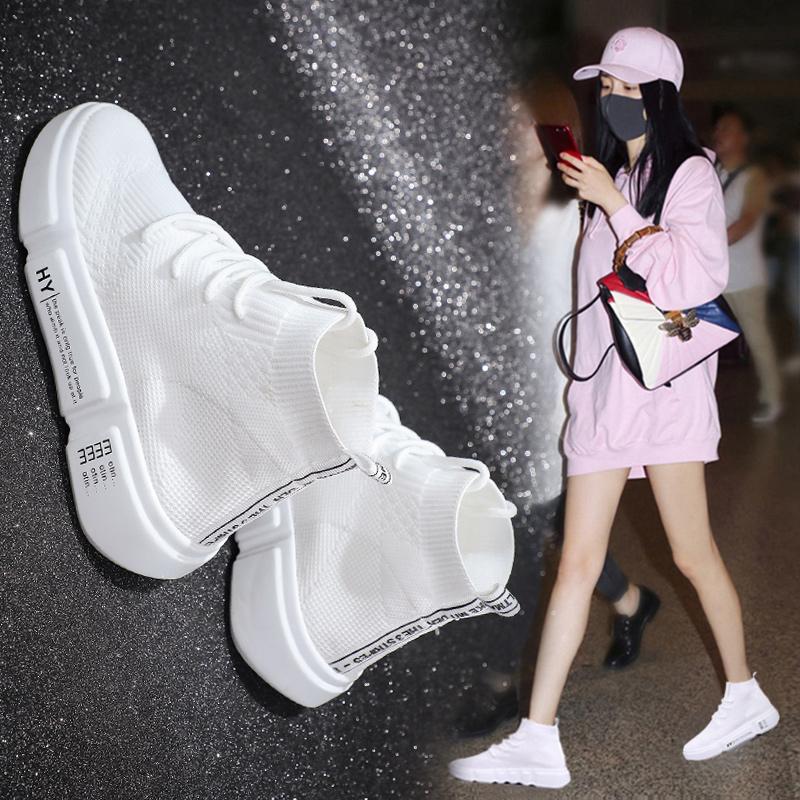 Носки туфли женские новая коллекция 2018 красный Дикий ульцзан корейская версия Хип-хоп Хараджуку высокий Ins кроссовки