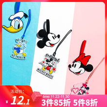 MINISO name product excellence Mickey cartoon travel luggage tag listed boarding cards checked