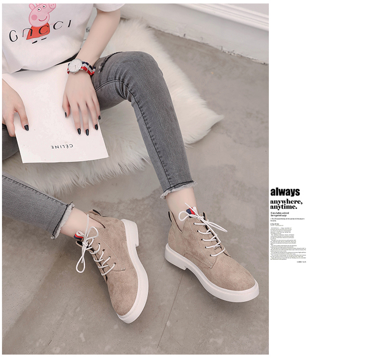 New single casual high-top round ankle boots 69