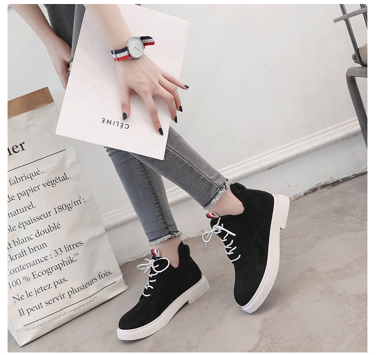 New single casual high-top round ankle boots 76