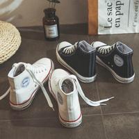 Высокий Холст обувь студенческая корейская версия Весна 2019 модные Дикий маленький белый панель Чистая сеть красный 2018 новая коллекция Ткань обувь