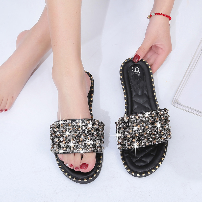 57dfe502a 2019 summer new Korean version of flat sandals and slippers ...