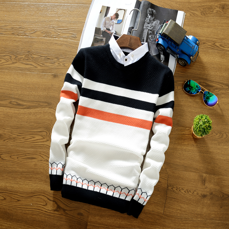 Autumn Men's Knitted Sweater S...