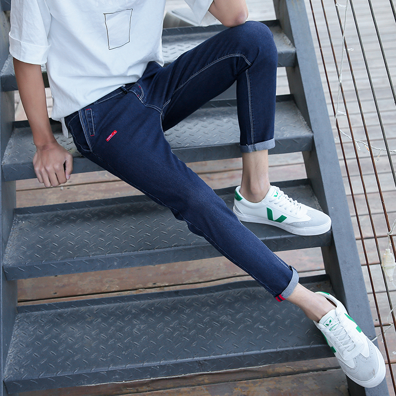 Spring Cotton Jeans, Men's Sho...