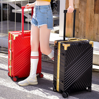 Luggage trolley case female aluminum frame universal wheel 24 inch male fashion trend 20 net red ins travel boarding box