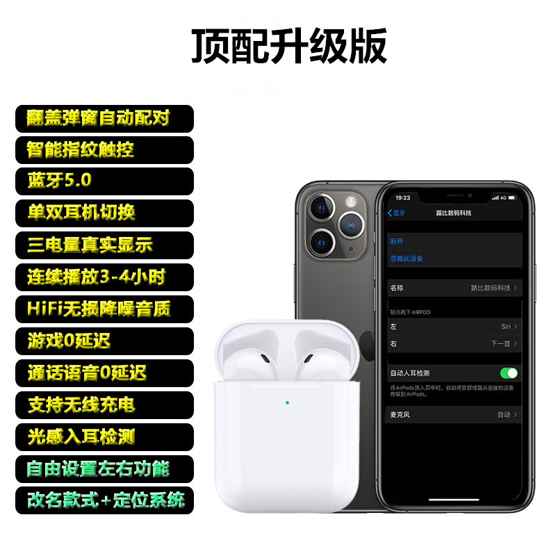 in december, the new name changed to location version, the second generation of luoda 1536u wireless bluetooth headset with pop-up window is suitable for apple in ear detection, huaqiangbei in ear x sport 8p universal