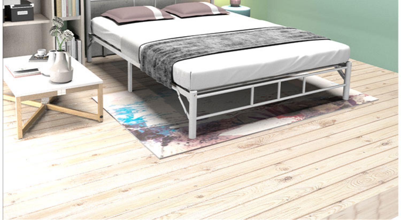 铁艺床铁床架双人床北欧简约现代轻奢儿童单人公主床详细照片