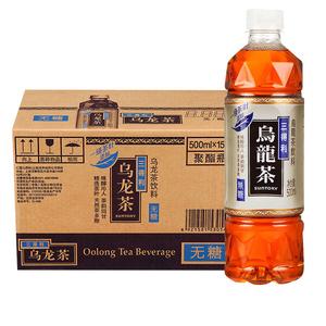 三得利无糖乌龙茶500ml*6瓶整箱