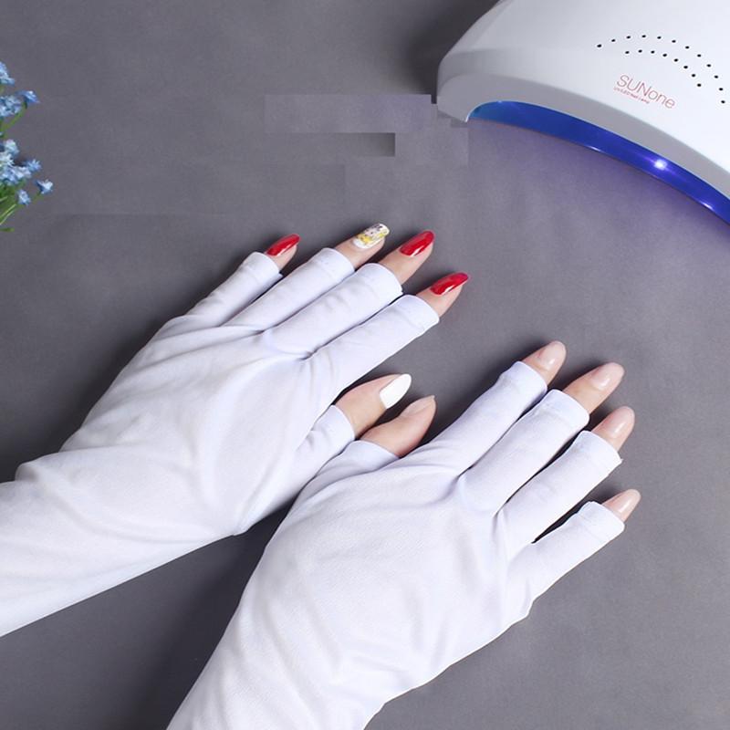 美甲手套防紫外线专用光疗手套美甲工具