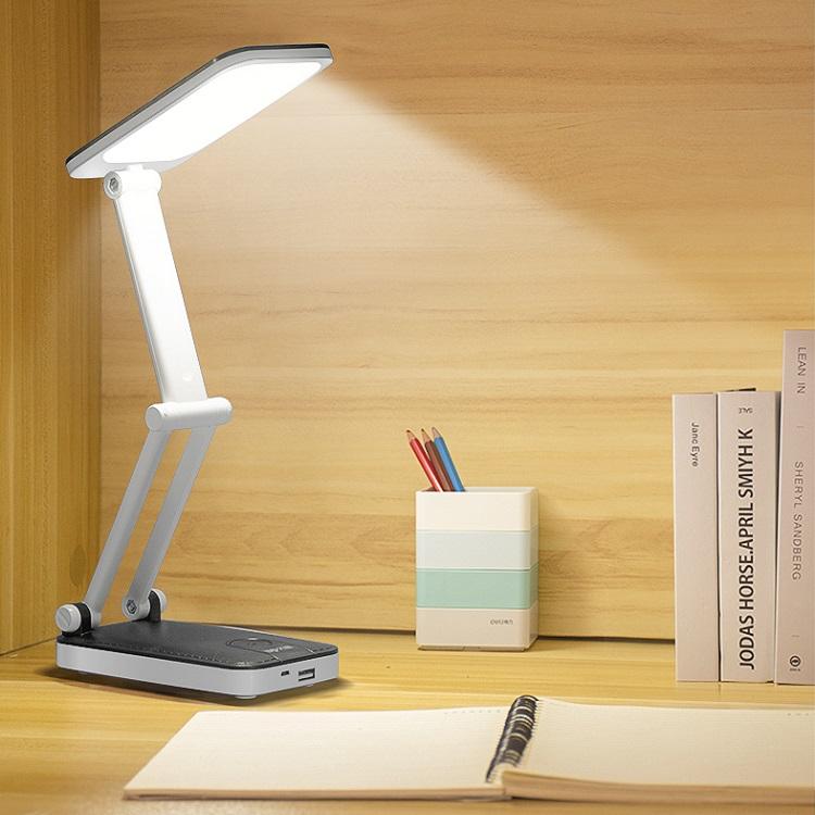 久量LED小台灯插充电宝大容量宿舍护眼书桌超长续航便携床头折叠