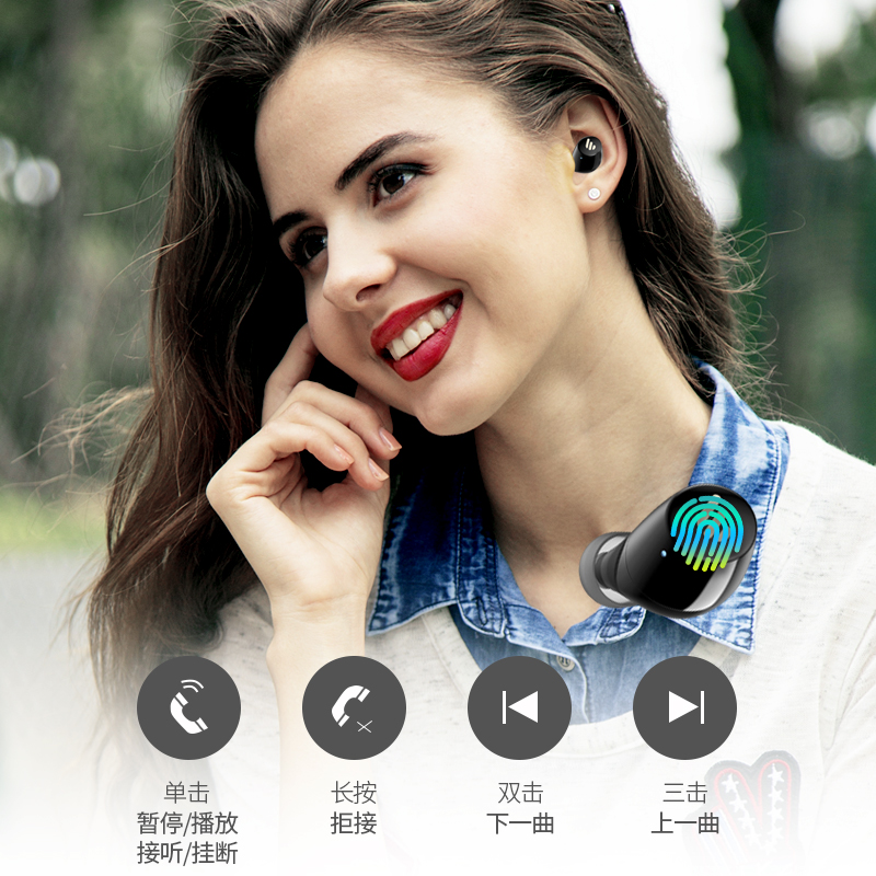edifier walkman tws1 real wireless bluetooth headset single and dual ear in ear sports 5.0 noise reduction small 3 android universal aptx super long standby life mini 5 song girls