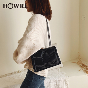 New rivet fashion rivet chain shoulder bag