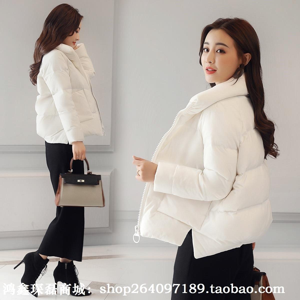 短款棉衣棉服新款2018潮流韩版时尚立领a短款女装气质加厚女装朝。