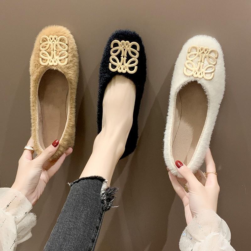【派格希】秋冬时尚简约毛毛单鞋