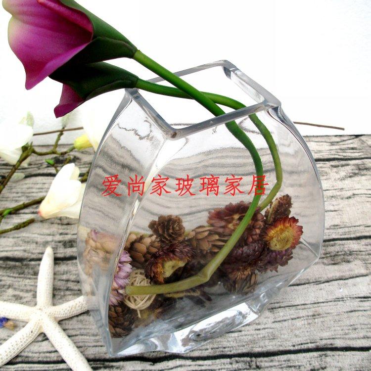Цветочная ваза Прозрачный стеклянный подсвечник рыбка чаша/ваза гидропонных контейнер/ремесло украшения украшения дома