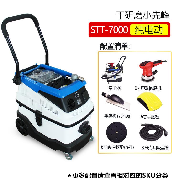 汽车无尘研磨机批土气动吸尘喷漆油漆原子灰打磨机电动研磨机干拭详细照片