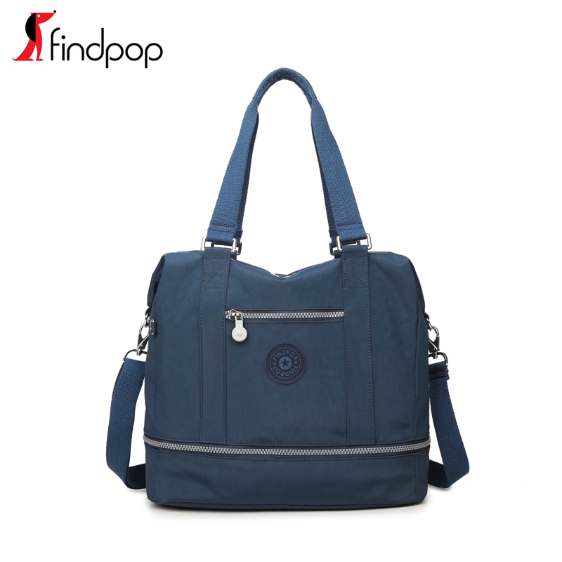 7e60db192a1 findpop canvas sports bag female handbag waterproof nylon travel bag  portable work bag shoulder bag