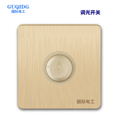 Stepless dimmer switch panel type 86 stepless knob dimmable bedside high-power light brightness adjuster