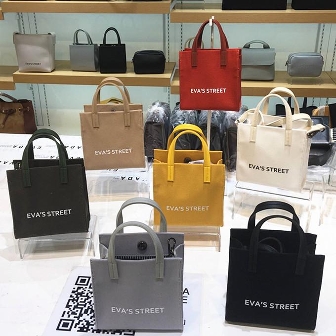韩国代购纯色女包斜跨包单肩包手提包小款夏季新款帆布字母休闲包