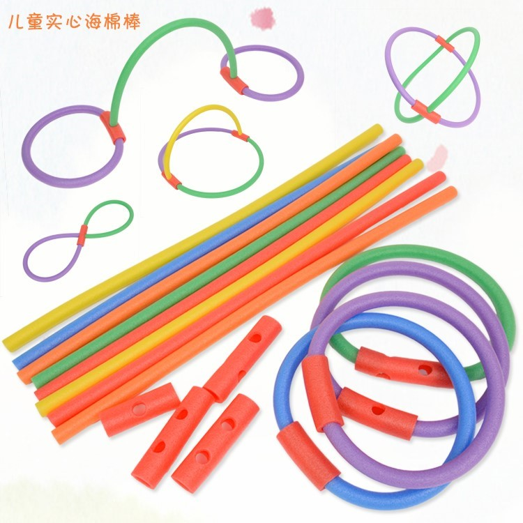 Foam stick sponge stick Gymnastics color Assembly cylinder long strip game stick foam stick solid kindergarten sponge stick