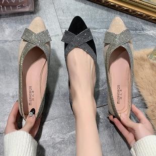 【商场同步】2019新小香风尖头鞋