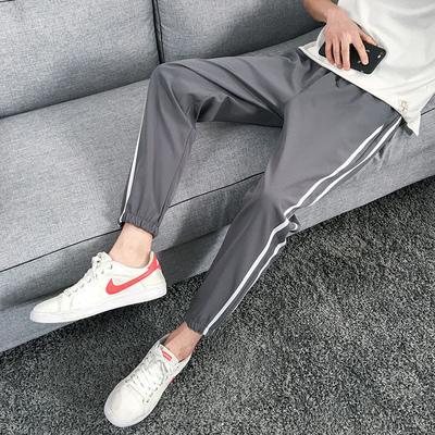 2018 mới mùa hè nam quần âu mỏng chân thể thao quần quần nam Hàn Quốc phiên bản của xu hướng chín quần Hồng Kông phiên bản Crop Jeans