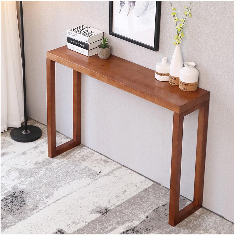 新中式长条桌条几台玄关供桌简约现代实木边桌背几条案柜玄关玄关