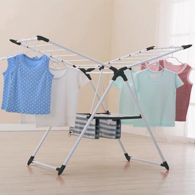 碳钢折叠落地晾衣架室内阳台晒被子神器家用婴儿晒衣架室外凉衣架