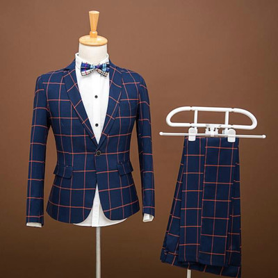 Men's lattices men's suits, Western-style clothes, singers, stage costumes, Western-style clothes, hosts, gowns, gowns, studio men.