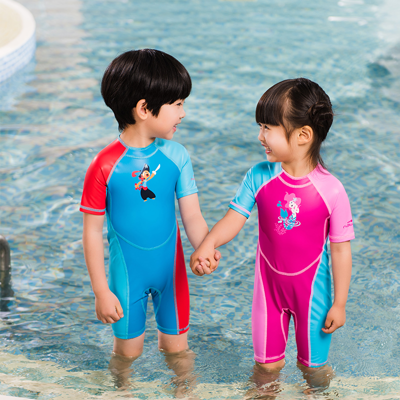 68b4062975 Decathlon infant one-piece swimsuit autumn and winter warm shade ...