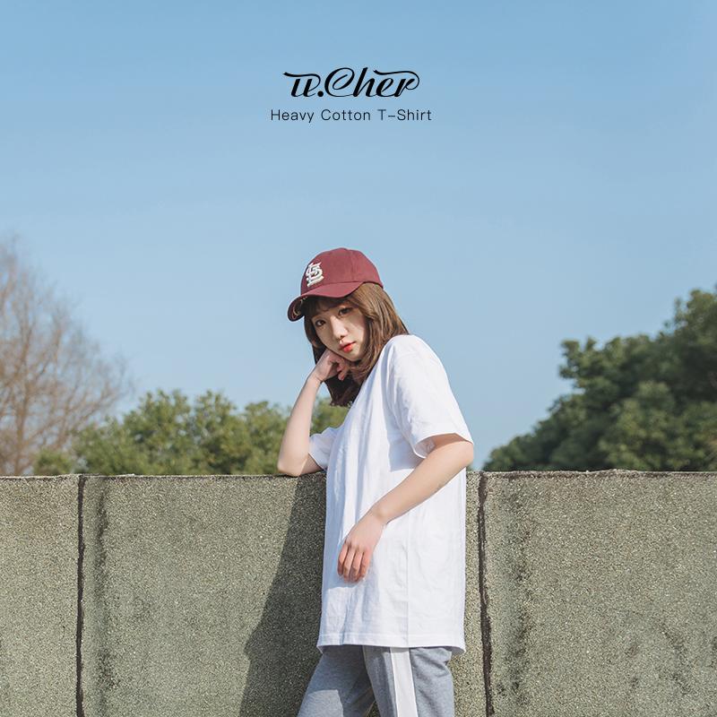Твердый цвет белый короткий рукав Футболка женская чистый хлопок Студент корейская версия Ulzzang wild 2018 новая коллекция Втулка