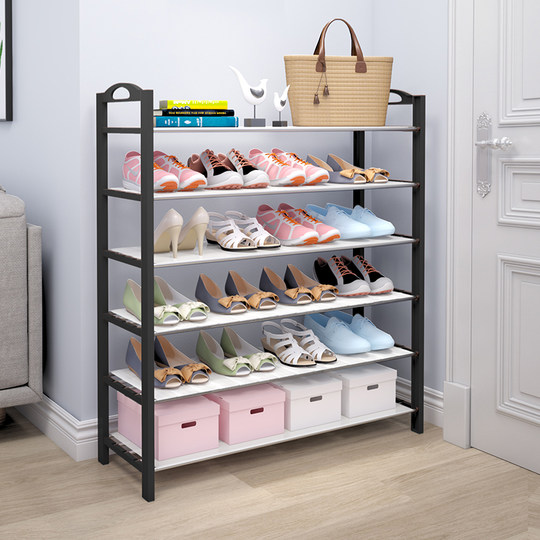 Simple shoe shelf economic dormitory shoe cabinet home to put small doorstep multi-layer dust storage artifact room good-looking