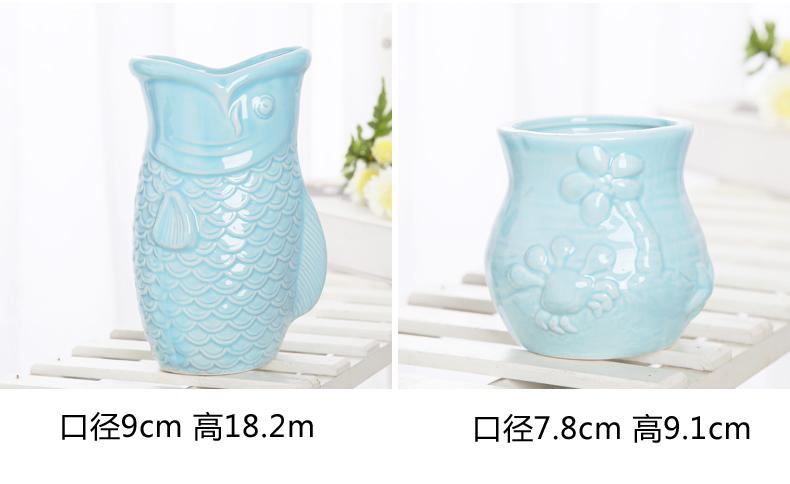 欧式卡通地中海多肉陶瓷花盆桌面创意简约绿植多肉微景观陶瓷花器