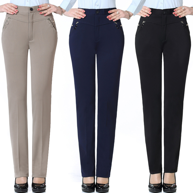 53c542803 40-50-60-year-old mother wear to work occupation leisure middle-aged women  women spring and autumn wear long pants