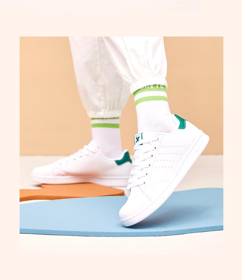 特步女鞋情侣板鞋休閒鞋春季百搭男鞋绿尾小白鞋冬季运动鞋子详细照片
