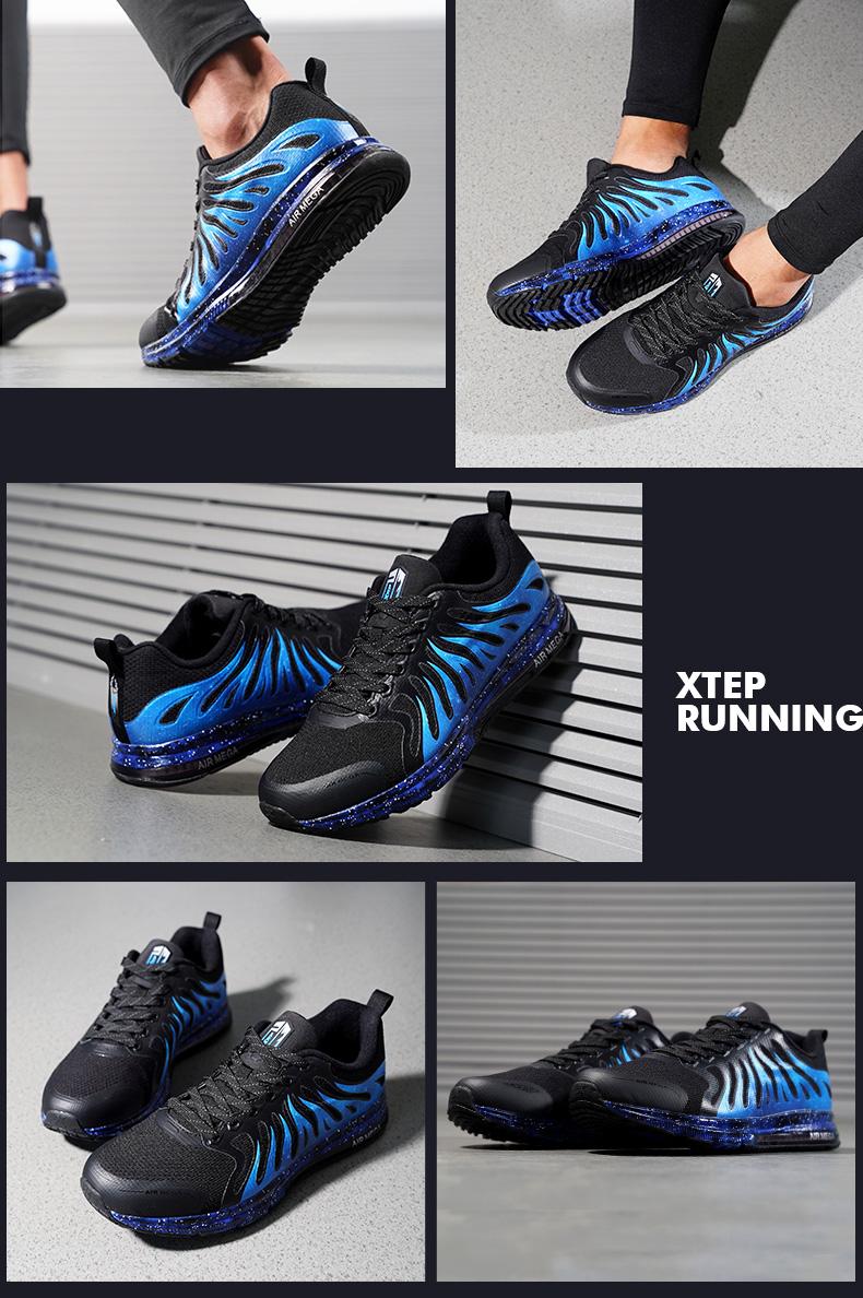 特步 专柜款 男子冬季跑步鞋 气垫缓震星火鞋983419116750-