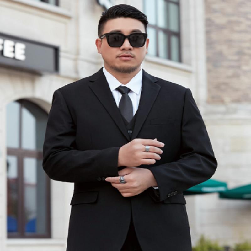 加肥加大西服男外套胖子宽松商务结婚礼服职业正装特大码西装套装