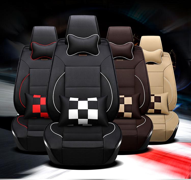 新款全皮四季通用小车专用汽车坐垫座套皮革全包汽车座垫座椅套9张