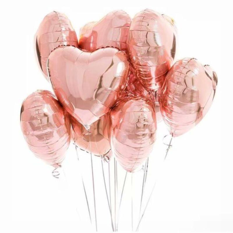 网红ins气球玫瑰金主题结婚婚房装饰氦气球 情人节告白生日布置品_领取3元淘宝优惠券