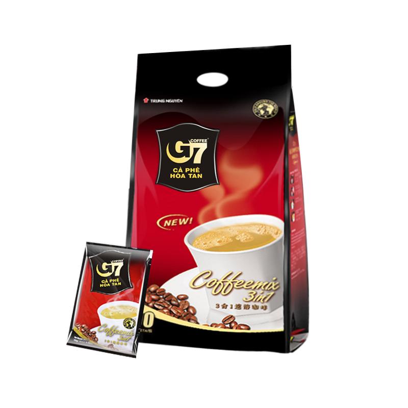 越南原装进口 中原G7三合一速溶咖啡粉50条装800g