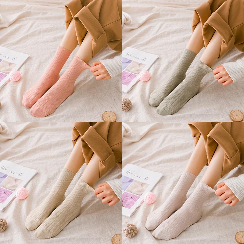 袜子女中筒袜纯棉可爱日系春夏薄款船袜短袜浅口韩国学院风堆堆袜_天猫超市优惠券