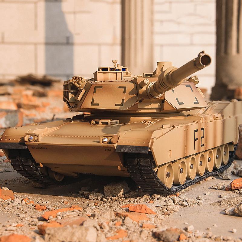 童励新品美M1A2遥控坦克模型充电电动儿童玩具车节日礼物