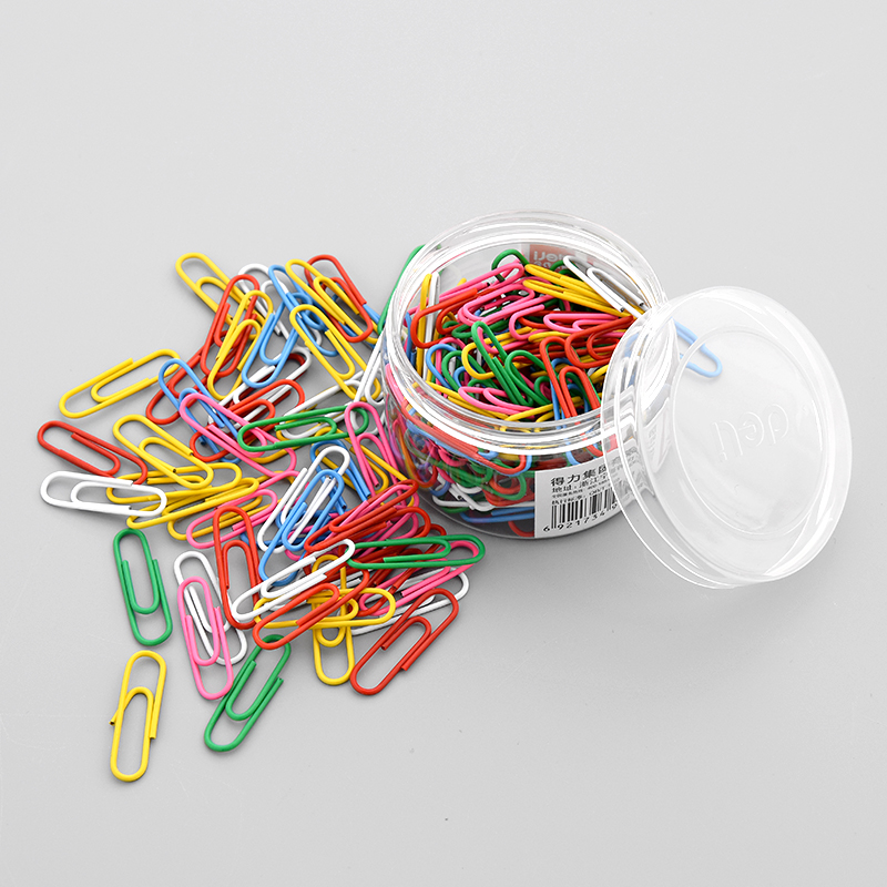 Clear Let The Power Boxed Paper Clip Fresh Candy Color Pin Paper Clip Small Office Learning Stationery Supplies