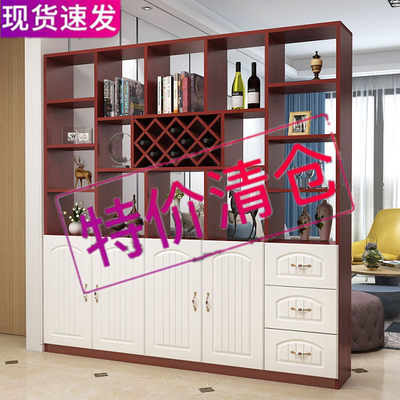 Wine cabinet modern minimalist porch cabinet shoe cabinet is integrated with wall door cabinet living room double-sided screen partition cabinet