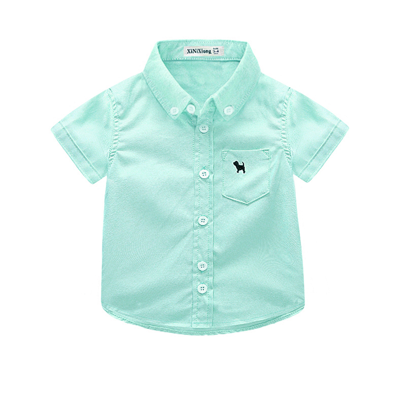 PUPPY SHORT SLEEVE GREEN SHIRT